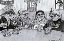 Da Super Fans poster SNL Chris Farley -Packers version