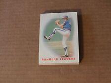 Texas Rangers Charlie Hough 1986 Topps Team Set
