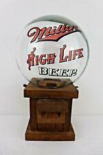 Vintage Miller High Life Beer Candy Peanut Dispenser Glass Globe + Base