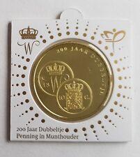 Nederland 2018 200 jaar dubbeltje Penning in voorbedrukte munthouder