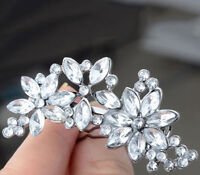 Fashion Flower Hair Clip Shine Rhinestone Hairpin Barrette Hair Accessory