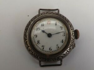an antique silver -925- trench style watch