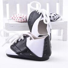Noir et Blanc Lacets Baskets Chaussures Sport Pour 18 in (environ 45.72 cm) fille Gotz Dolls nouveau p kijp