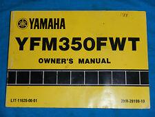 1987 87 YAMAHA YFM350FW YFM 350 FW BIG BEAR SHOP SERVICE REPAIR MANUAL
