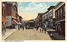 MD - 1910's Trolley on Main Street at Lonaconing, Maryland - Allegany County