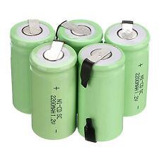 10PCS Sub C SC 1.2V 2200mAh Ni-Cd NiCd Wiederaufladbare Batterie Stromversorgung