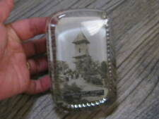 Vintage Original Advertising Glass Paper Weight Searchlight Tower Mill Mountain