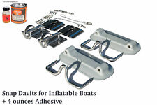 Snap Davits for Inflatable dinghy & Swim Platform with Quick Release kit + Glue