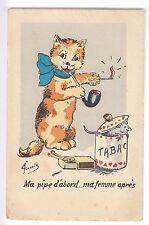 CPA  ANIMAL FANTAISIE -  CHAT MINOU CAT SOURIS FUMEUR PIPE TABAC FORNEIN ~B82