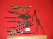Lot 6 Miscellaneous Pliers Engineer's Eifel Plierench Red Devil S & H Neverslip