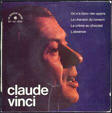 CLAUDE VINCI  LA CREME AU CHOCOLAT / JEAN FERRAT 45T EP BIEM CHANT DU MONDE 3242