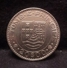 1971 Portuguese St. Thomas and Prince 20 escudos, only 75,000 minted, UNC, KM-24