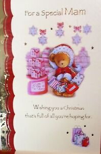 MAM CHRISTMAS CARD ~ Cute Bear Christmas Shopping