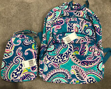 NEW Vera Bradley WAIKIKI PAISLEY Essential LARGE Backpack & Lunch Bunch - NWT