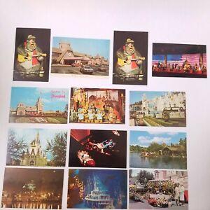 Vtg Walt Disney World / Disneyland Postcards Lot Of 12 Cinderella Castle