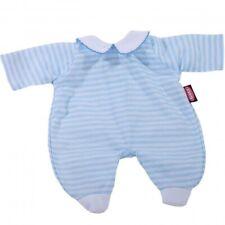 Götz 3402823 Babypuppenstrampler Gr.l Blau-gestreift 48 Cm