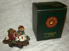 Peppermint & Spearmint Sweet Ride Boyd's Bears Bearstone Christmas Ornament Box