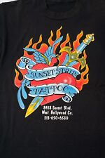 RARE Authentic Sunset Strip Tattoo West Hollywood t-shirt purchased Jan 1990