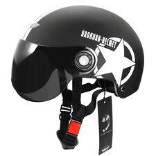 Adult Motorcycle Helmet Half Open Face Flip Up Visor Adjustable for Size S, M, L