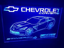 Corvette Chevrolet Led Neon Light Sign Garage Game Room Man Cave Shop