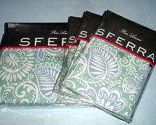 Sferra RESSA F/Queen Duvet Cover 5PC Set Aqua/Cornflower Blue Cotton Percale New