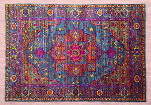 "5'7"" x 7'10"" Serapi Sari Silk & Wool Hand Knotted Parsian Style Area Rugs Carpet"