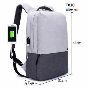 Men Laptop AntiTheft Backpack with 15.6 inch USB Charging Port School Travel Bag