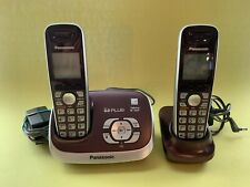 Panasonic DECT 6.0 Dual Handset Cordless Phone Answering System (Wine Red)