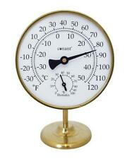 Vermont Portable Weather Station (Living Finish Brass)