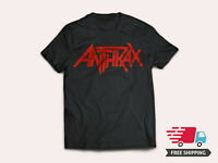 New Anthrax American Heavy Metal Band Logo Men's Black T-Shirt Size S-5XL
