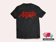 New Anthrax American Heavy Metal Band Logo Men's Black T-Shirt Size S-5XL