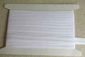 Bias binding White  Cotton 25mm(1inch) x 15m