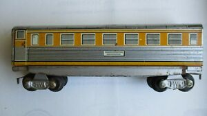 HO Size Passenger Train Car, Litho Tin- Made in Western Germany