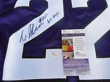 Aaron Green signed Texas Christian Tcu Horned Frogs purple jersey Jsa Coa
