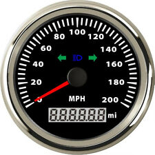 1pc 85mm 0-200MPH GPS Speedometer Red Backlight Speed Mileometer with Turn Light