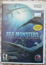 Nintendo Wii Sea Monsters a prehistoric adventure (Manual, box and game)