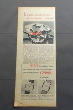 PUB PUBLICITE ANCIENNE ADVERT CLIPPING 010617 / MONTRE CYMA ANTI-CHOC CYMAFLEX