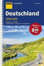 ADAC Kompaktatlas Deutschland 2018 / 2019 Karte 1:300.000 Straßenatlas
