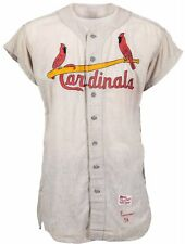 1958 Del Ennis Game Worn St. Louis Cardinals Flannel Jersey Rawlings with COA