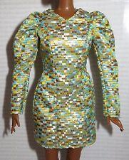 DRESS ~ BARBIE DOLL LOOK NIGHTTIME GLAMOUR CURVY METALLIC PRINT GOWN CLOTHING