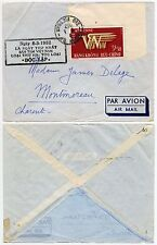 INDOCHINA VIETNAM 1952 AIRMAIL FRANKING 3$30 + 8 MARCH NGAY BOC LAP BOXED CACHET