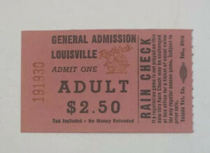 1983 Louisville Redbirds Baseball Ticket Stub MiLB Rain Check Minor League KY