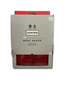 Hunter Original Boot Socks Color Red Size L New Open Box Tall