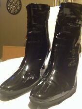 """MEE TOO""  Black Patent High Heel Ankle Boots  Booties  6 m"