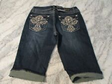 EARL JEAN DARK .BLUE DENIM LONG SHORTS SIZE 05 NWT SUPER CUTE! L@@K!!