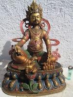 alter Jambhala Buddha Gott Reichtum Tibet ~1965 Bronze orig. lackiert  44cm 8kg