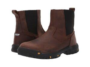 Men Caterpillar WHEELBASE Steel Toe Work Boot CLAY BROWN P91026 Authentic New