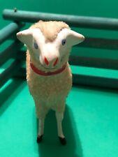New ListingAdorable Large Vintage Christmas Woolly Sheep Nativity Putz Marked Germany