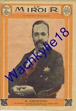 Le miroir n°86 du 16/11/1913 Kokovtsof Brunswick Metchnikoff Colette de Jouvenel