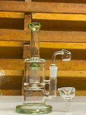 9'' Glass Hookah Water Pipe Bubbler Bong Percolator Filter W Extra Bowls